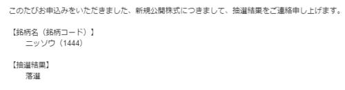 岡三オンライン証券落選