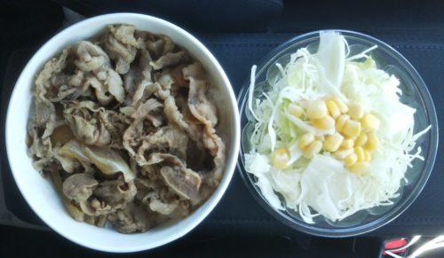 牛丼&生野菜