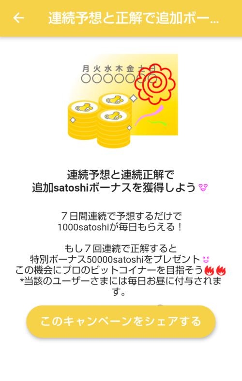 7連続正解で30,000satoshi