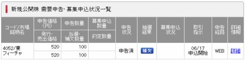 SMBC日興証券落選