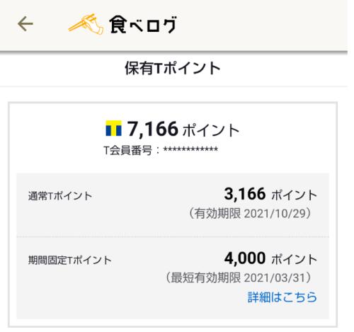 食べログ+4000ポイント